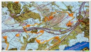 Ejemplo de ruta trazada con diferentes fitas.