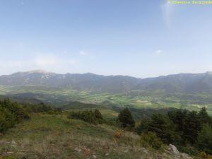 El valle de la Cerdanya se ve bien. De las montañas de enfrente salimos a las 09.00h de la mañana.