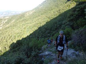 Ascenso al collado del Santo. En 4 km. un desnivel positivo de +900m. Casi nada...