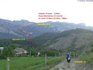 De momento, hay que subir y atravesar esa montaña del fondo campo a través... Ufff..