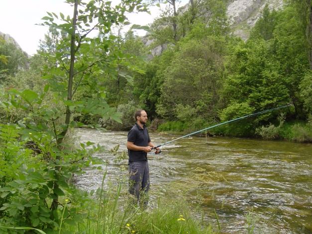 De pesca por el río Curueño. León