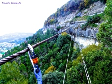 Puente Nepalí en Les Baumes Corcades de Centelles